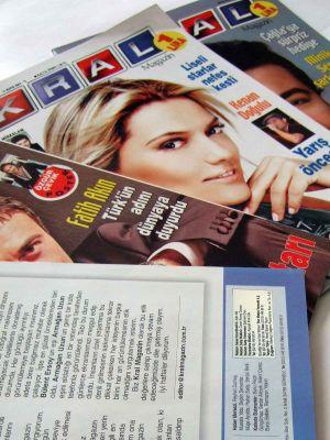 Reklam Satış Müdürlüğü yaptığı Kral Magazin Dergisi
